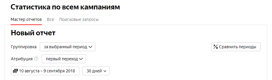 Модели атрибуции в Яндекс Директ 3